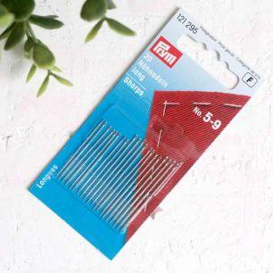 PRYM Иглы ручные для шитья с тонким острием № 5-9, уп. 20 шт.