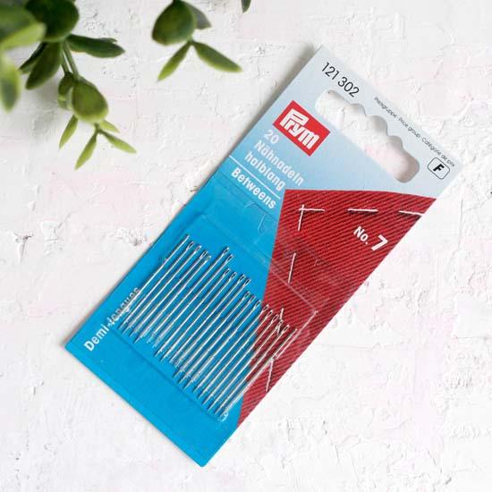 PRYM Иглы ручные для шитья с тонким острием № 7, уп.20 шт.