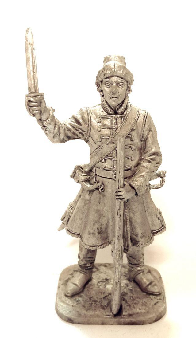 Фигурка Фузелёр выборных солдатских полков, 1698-1702 гг. Россия олово