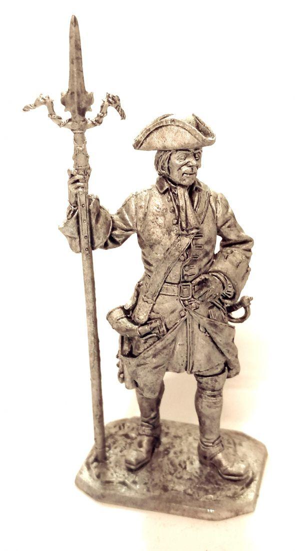 Фигурка Канонир Артиллерийского полка с пальником, 1704-25 гг. Россия олово