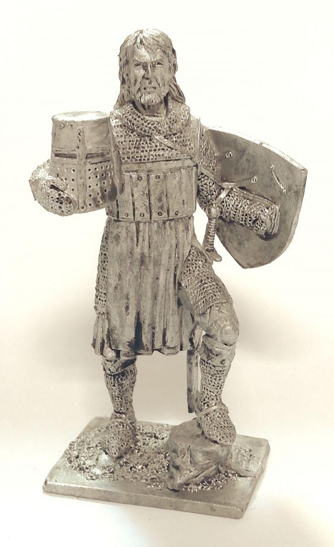 Фигурка Тевтонский рыцарь, 13 век олово