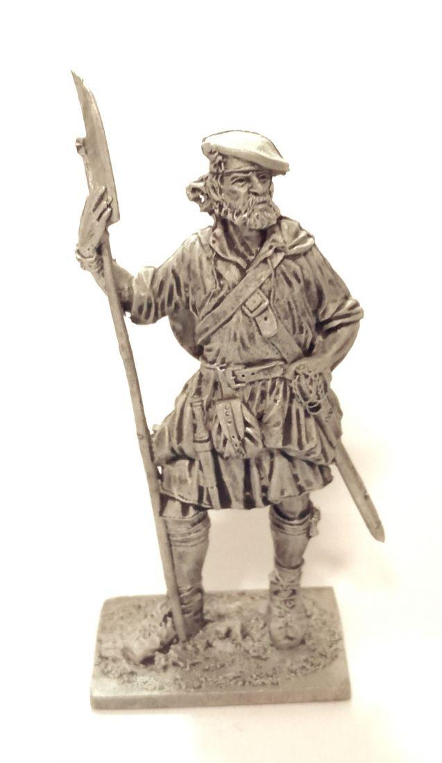 Фигурка Шотландский воин, конец 17-нач.18 вв. олово