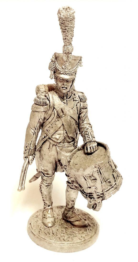 Фигурка Барабанщик гренадерской роты 57-го линейного полка. Франция, 1809-12 гг. олово