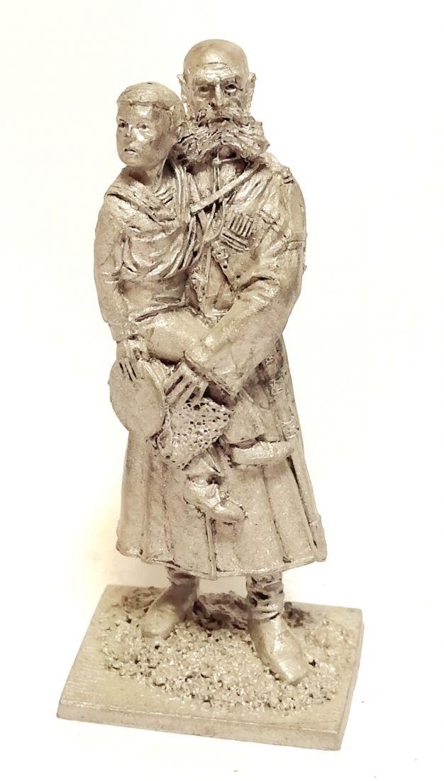 Фигурка Казак Собств. Е.И.В. Конвоя с царевичем Алексеем, 1910 г.  олово