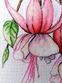 """""""Фуксия"""". Схема для вышивания крестиком. Отшив."""