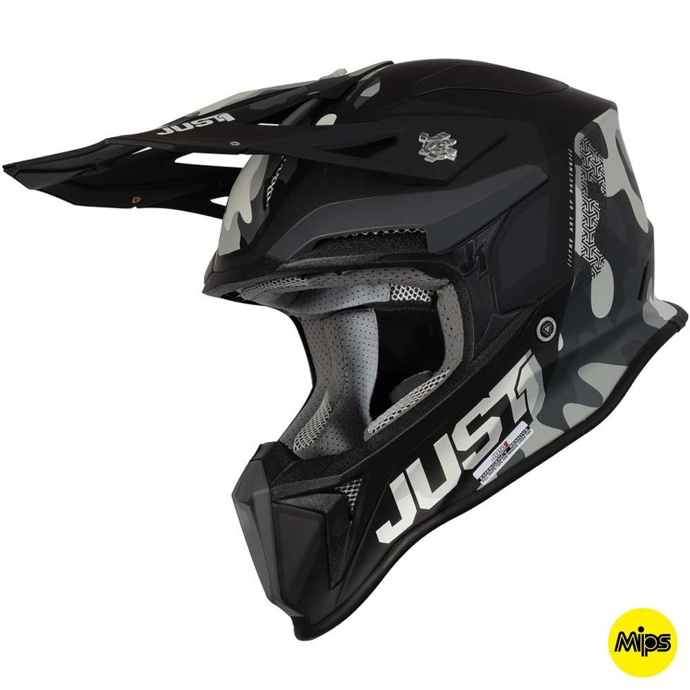 Just1 J18+MIPS Pulsar Camo City Black Matt шлем для мотокросса и эндуро