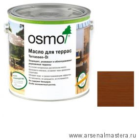 Масло для террас Osmo 016 Terrassen-Ole для бангкирай темное 2,5 л