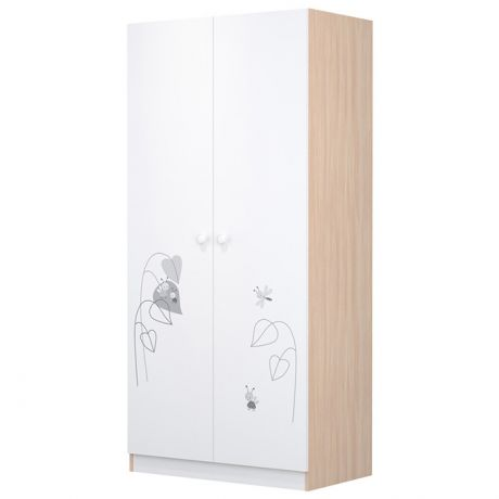Шкаф двухсекционный  Polini  kids French 1230 Amis