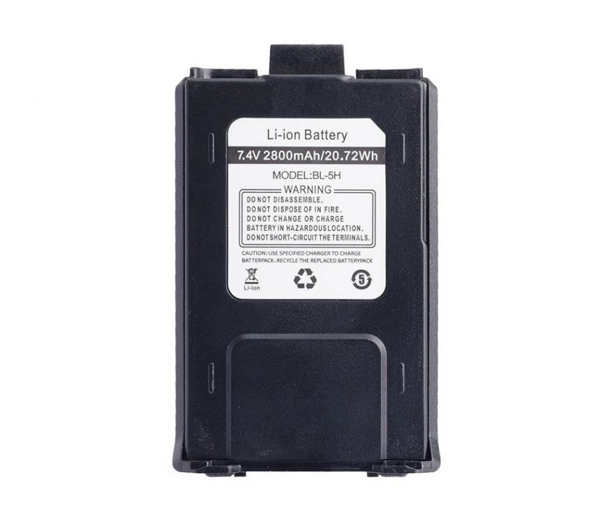 Аккумулятор усиленный для рации Baofeng UV-5R компакт (2800 мАч)