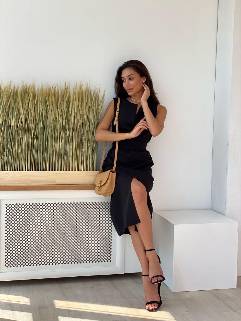 4350 Платье базовое чёрное