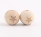 фото Бусины деревянные MAGIC HOBBY 16 мм упаковка 40 гр. MG-B4969