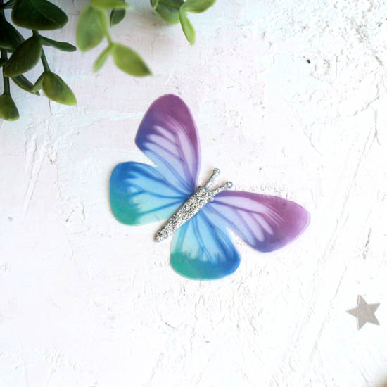 Аксессуар для кукол - бабочка сине-фиолетовая, 6 см.