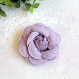 Тканевая роза 5 см. - сиреневая