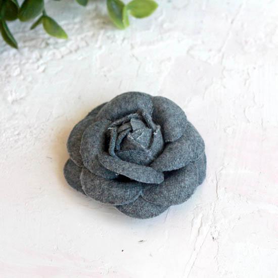 Тканевая роза 5 см. - серая