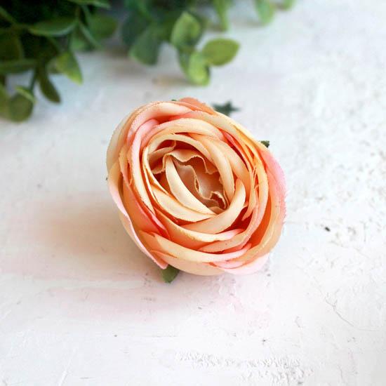 Бутон розы 4,5 см. - тканевый нежно-желтый