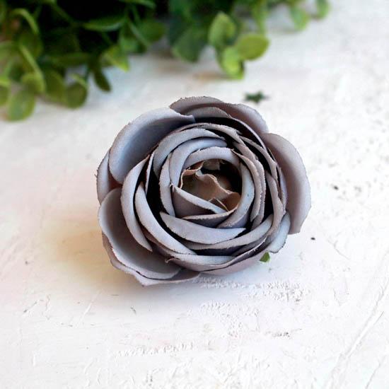 Бутон розы 4,5 см. - тканевый серый