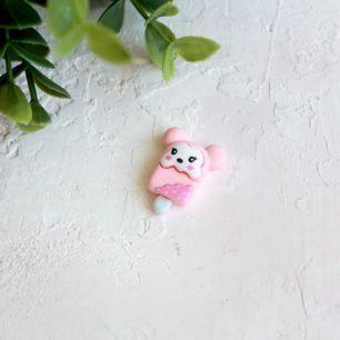 Кукольная миниатюра - Кабошон милое эскимо, 2 см