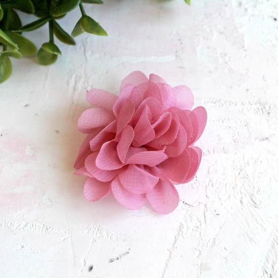 Цветок тканевый воздушный 4,5 см., пыльно-розовый