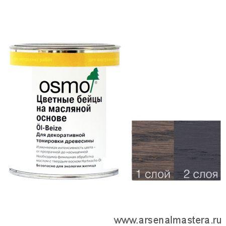 Цветные бейцы на масляной основе для тонирования деревянных полов Osmo Ol-Beize 3514 Графит 0,125 л