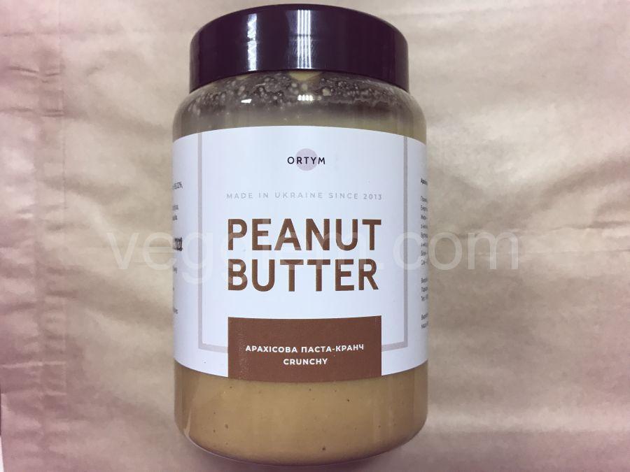 Натуральная арахисовая паста крем, ORTYM, 250 грамм, пластик