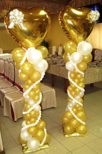 """Колонна из шаров """"Свадебная"""""""