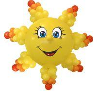 Подвесное солнце из шаров