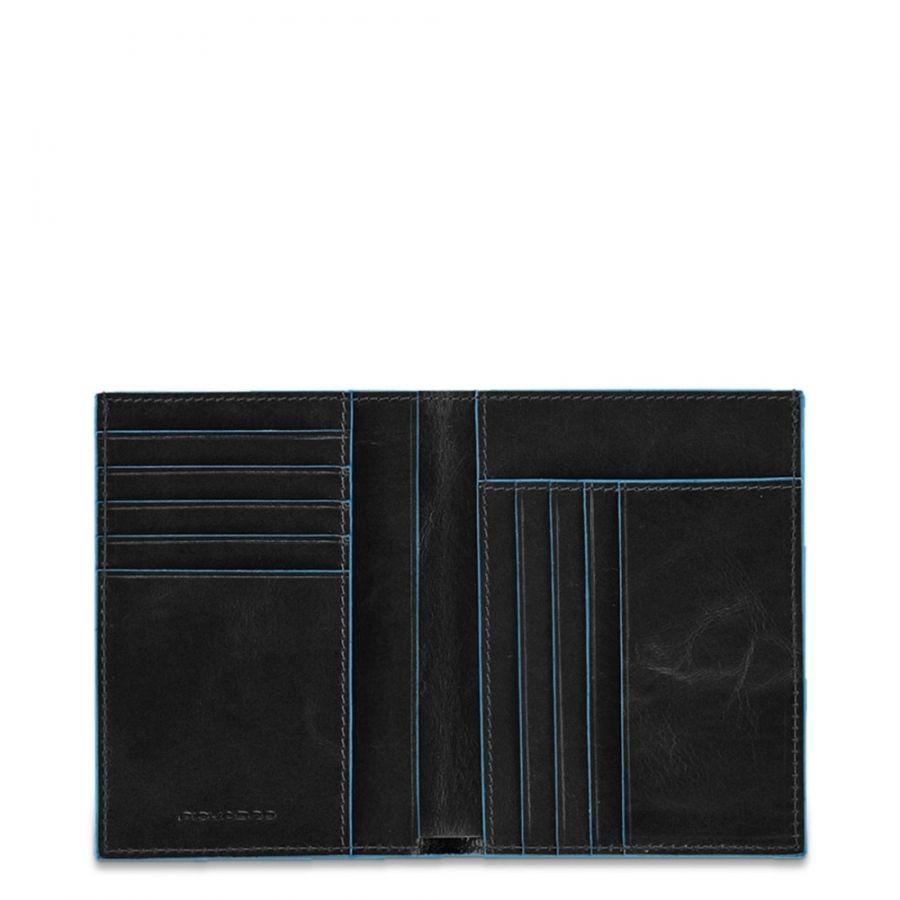 Чехол Piquadro PU1393B2/N для кредитных карт вертикальный черный