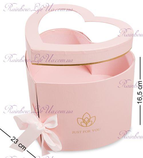 "Коробка подарочная двухуровневая ""Розовое сердце"""