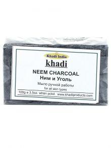 Мыло khadi с бамбуковым углем и нимом