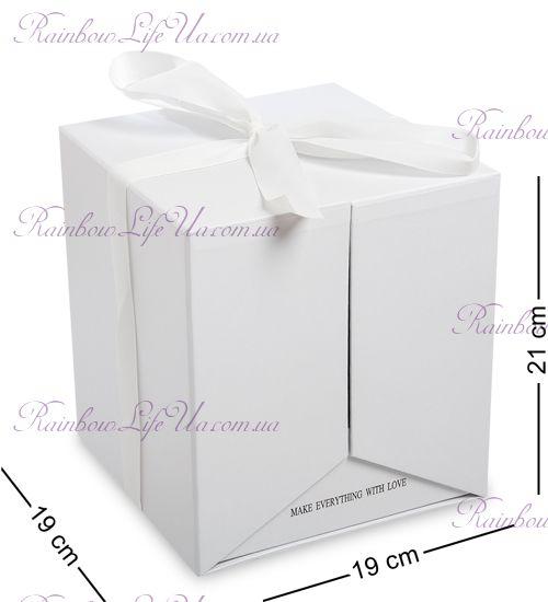 "Коробка подарочная ""Два Сердца"" белая"