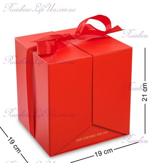"""Коробка подарочная """"Два Сердца"""" красная"""