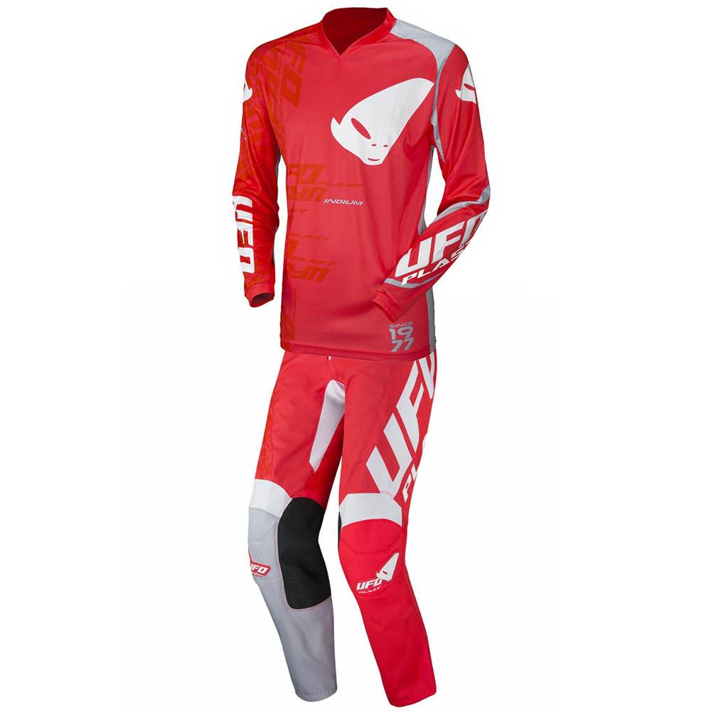 UFO Indium Red джерси и штаны для мотокросса, красные