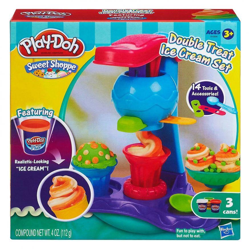 Набор для лепки из пластилина Play-Doh Двойная порция мороженого (7550)