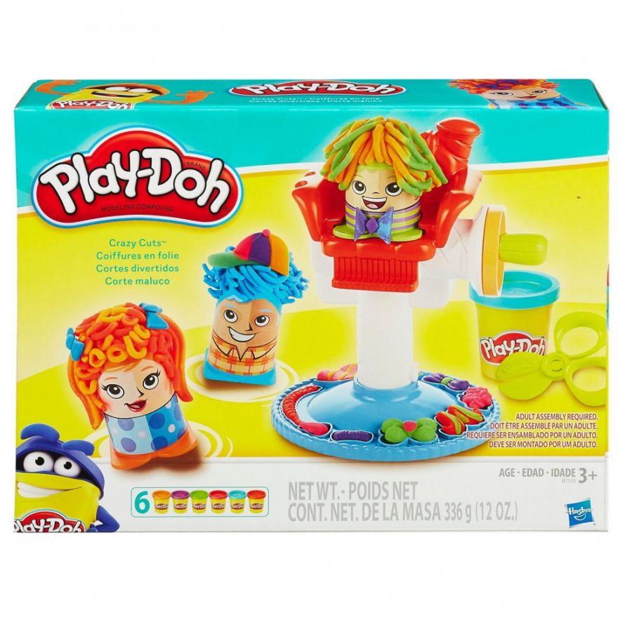 Набор для лепки из пластилина Play-Doh Сумасшедшие прически (7750)