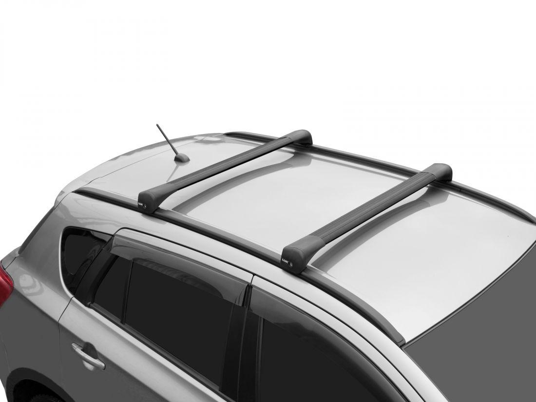 Багажник на крышу Chery Tiggo 7 Pro, Lux Bridge, крыловидные дуги (черный цвет)