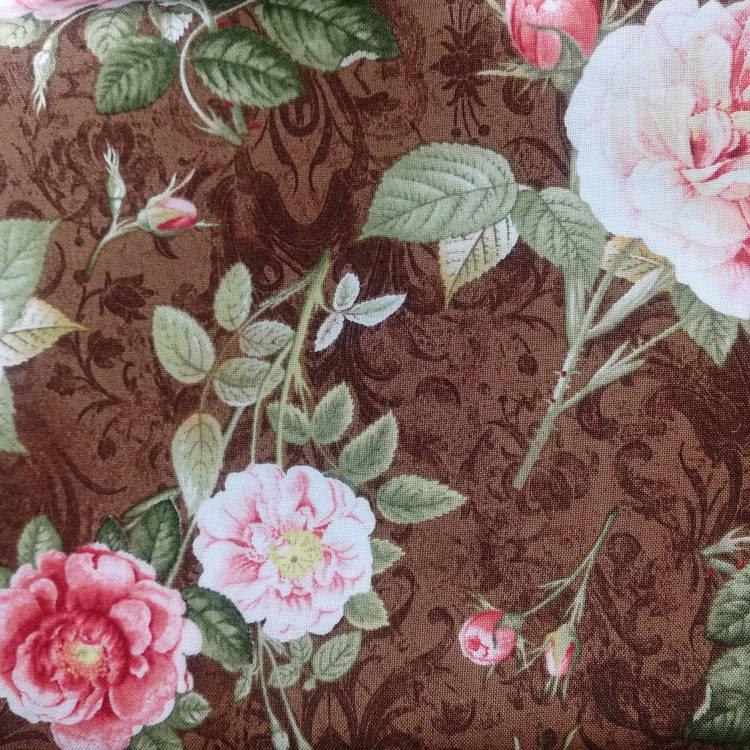 Ткань Rosehill Розовый Сад Quilting Treasures США  отрез 50 см х 55 см (24765)