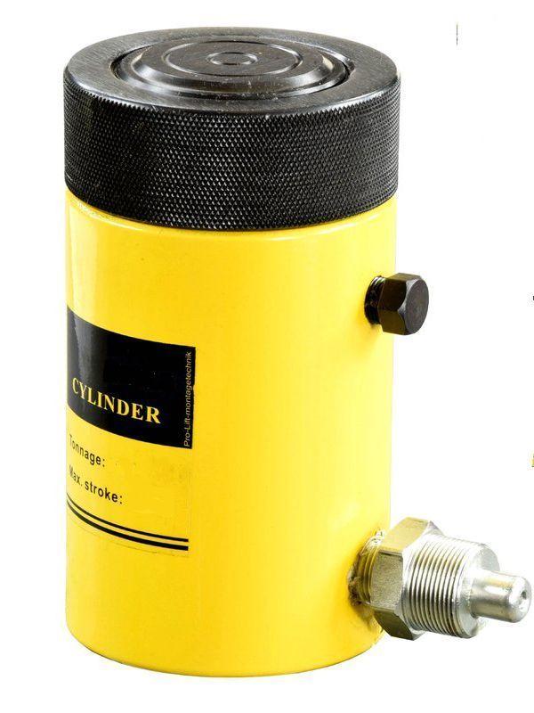 Домкрат гидравлический TOR HHYG-150150LS (ДГ150П150Г),  150т с фиксирующей гайкой