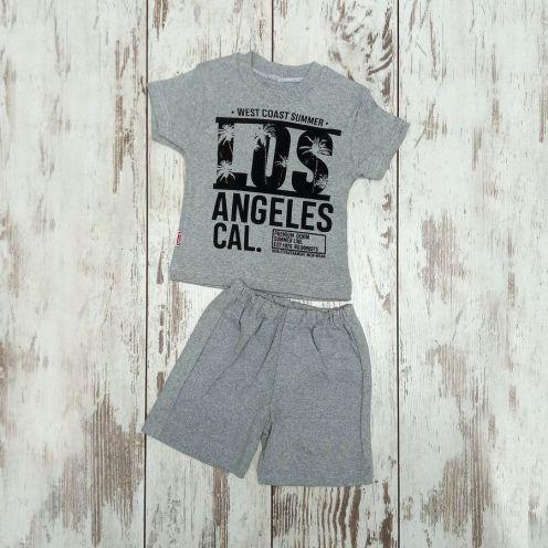 Костюм LOS серый: футболка, шорты