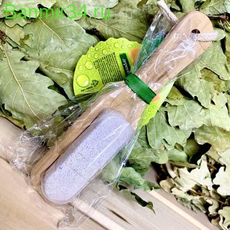 Щётка с пемзой деревянная