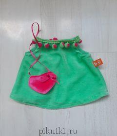 Мятное платье с сумочкой сердечком