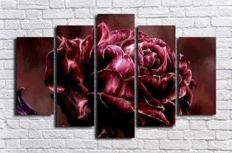 Модульная картина Необыкновенная роза
