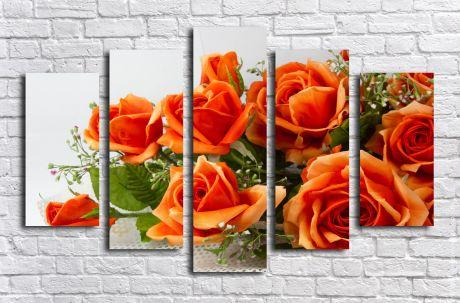 Модульная картина Чайные розы