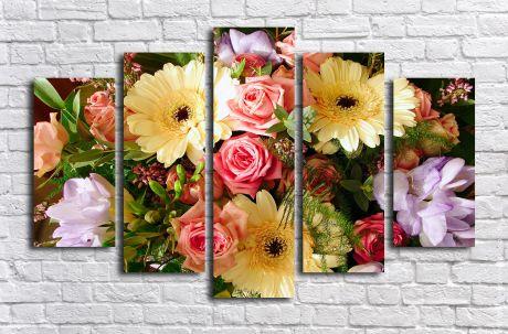 Модульная картина Букет цветов