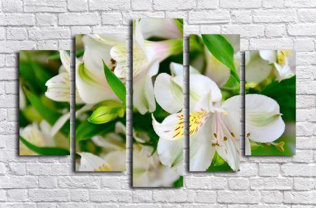 Модульная картина Лилии белые