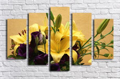 Модульная картина Желтые лилии