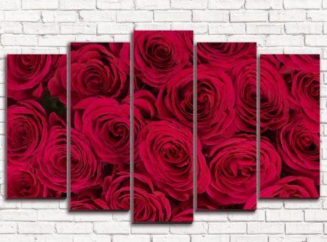 Модульная картина Бордовые розы