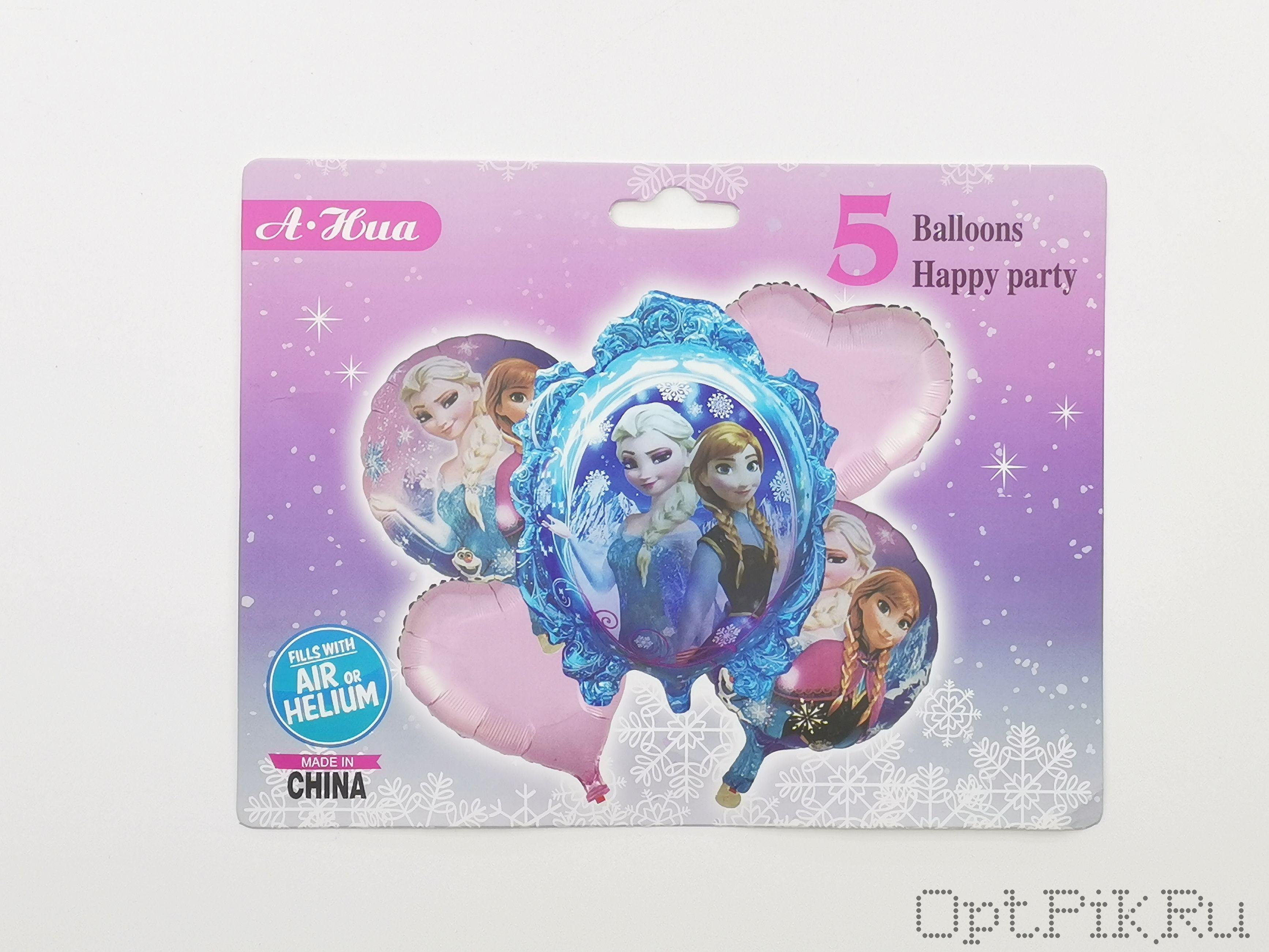 """Набор фольгированных шаров """"Холодное сердце"""" 1"""
