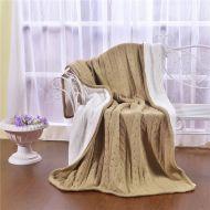 Вязанное плед-покрывало с мехом   KENZO №К19 (какао)
