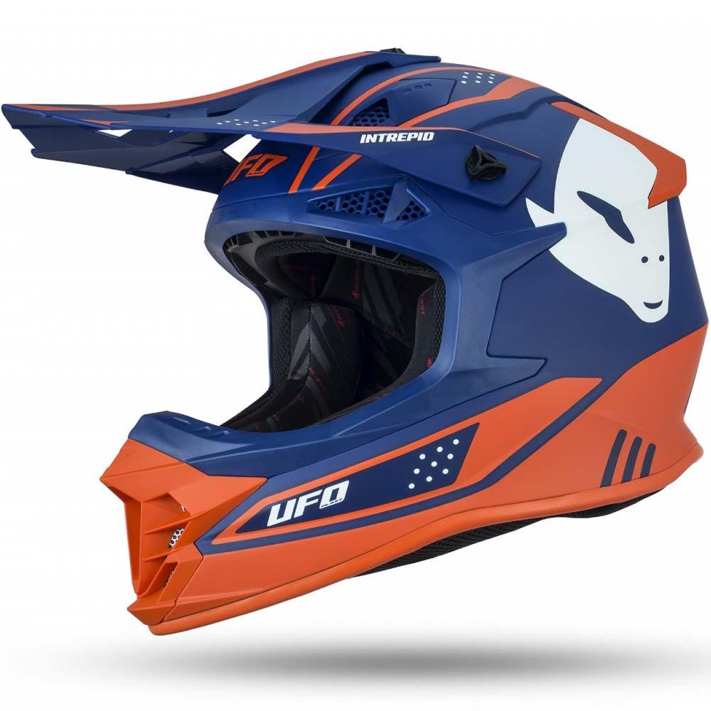 UFO Intrepid Helmet Blue/Orange шлем для мотокросса, сине-оранжевый