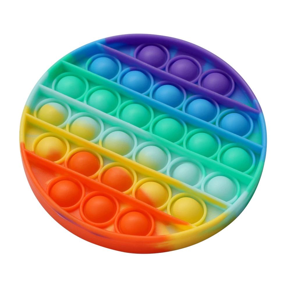 Тренажер антистресс PALMEXX Pop-it, с щелчком, разноцветный